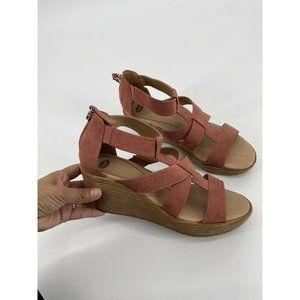 Dr. Scholls Womens Later Sandal Wedge Heels Shoes